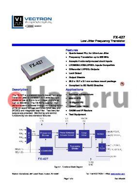 FX-428-DPF-B4P2C datasheet - Low Jitter Frequency Translator