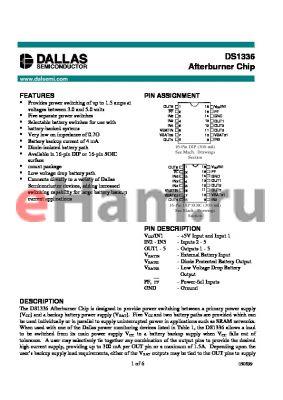 DS1336 datasheet - Afterburner Chip