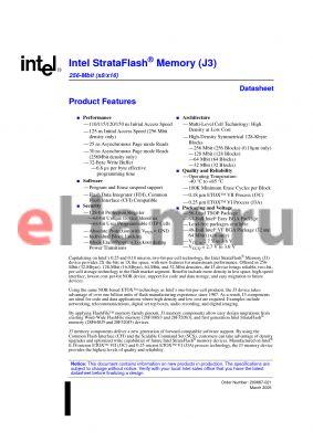 E28F640J3A-110 datasheet - Intel StrataFlash Memory (J3)