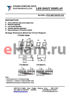FYD-8021FX-2 datasheet - LED DIGIT DISPLAY