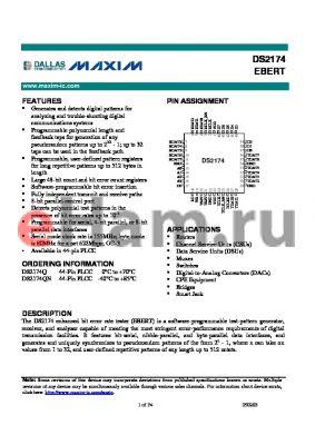 DS2174 datasheet - EBERT