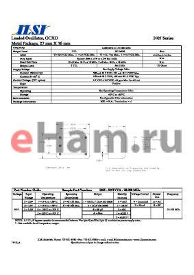 I405-3656YVA-20.000 datasheet - Leaded Oscillator, OCXO Metal Package, 27 mm X 36 mm