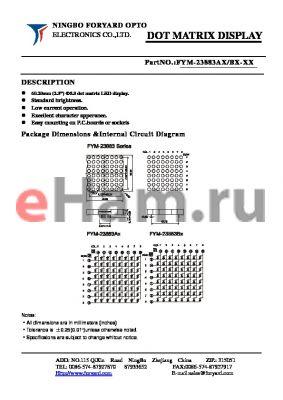 FYM-23883BX-3 datasheet - DOTMATRIX DISPLAY