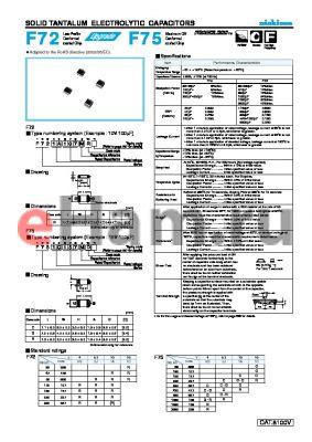 F720G227MR datasheet - SOLID TANTALUM ELECTROLYTIC CAPACITORS