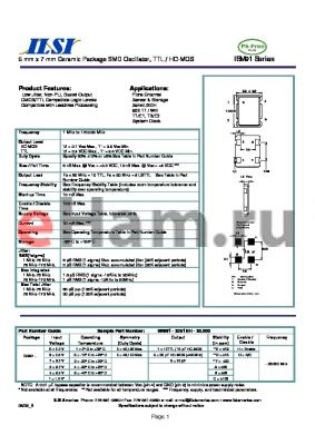 ISM91-2356EO-20.000 datasheet - 5 mm x 7 mm Ceramic Package SMD Oscillator, TTL / HC-MOS