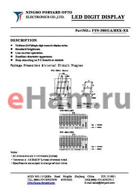FYS-30011AXX-1 datasheet - LED DIGIT DISPLAY