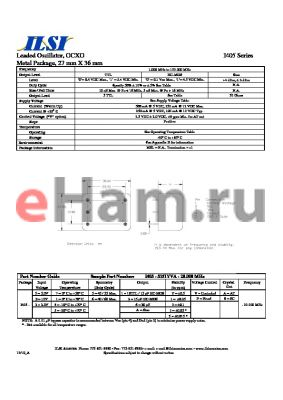 I405-93661VS-20.000 datasheet - Leaded Oscillator, OCXO Metal Package, 27 mm X 36 mm