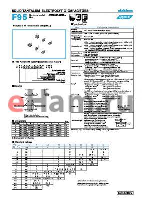 F950G336MPAAQ2 datasheet - SOLID TANTALUM ELECTROLYTIC CAPACITORS
