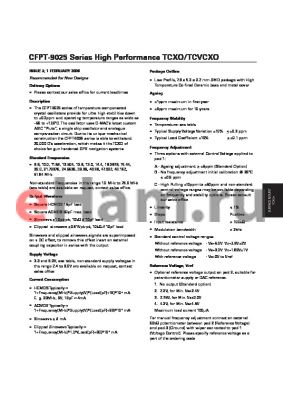 CFPT-9031AP1B datasheet - High Performance TCXO/TCVCXO