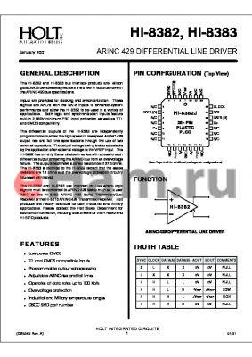 HI-8382CM-01 datasheet - ARINC 429 DIFFERENTIAL LINE DRIVER