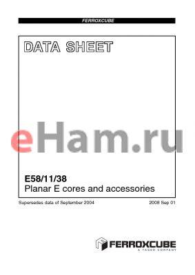 E38-3C94-E315-E datasheet - Planar E cores and accessories