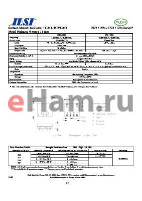 I523-1J3-20.000 datasheet - Surface Mount Oscillator, TCXO, TCVCXO Metal Package, 9 mm x 11 mm