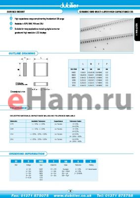 DSB0805W104KN datasheet - SURFACE MOUNT CERAMIC SMD MULTI-LAYER HIGH CAPACITANCE DS