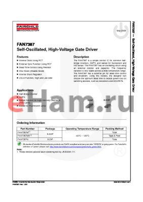 FAN7387M datasheet - Self-Oscillated, High-Voltage Gate Driver
