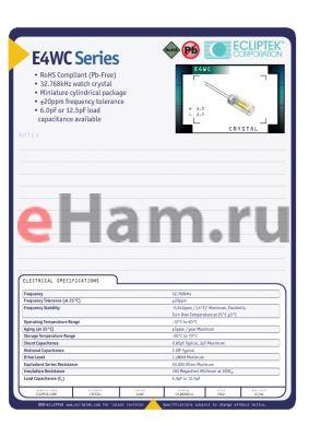 E4WCDA06-32768K datasheet - CRYSTAL