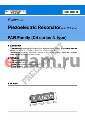 FAR-C4CN-06000-L00-R datasheet - Piezoelectric Resonator (4 to 23.9 MHz)