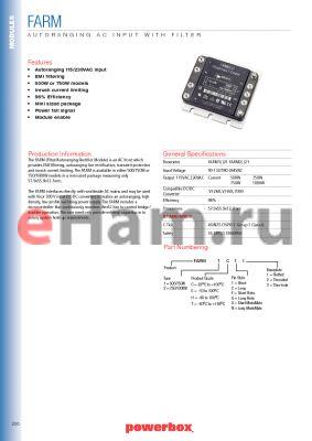 FARM1CG3 datasheet - AUTORANGING AC INPUT WITH FILTER