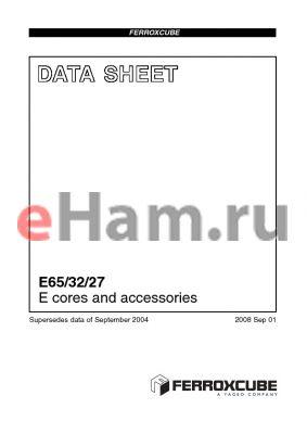 E65-3C90-E160 datasheet - E cores and accessories