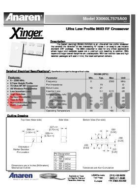 FB2425J5025A00 datasheet - X0060L7575A00