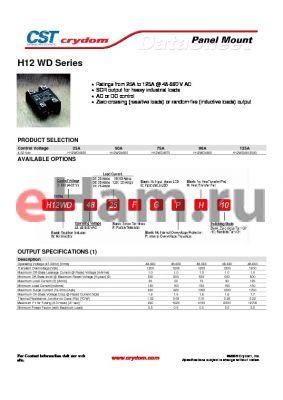 H12D4825FGPH-10 datasheet - Panel Mount