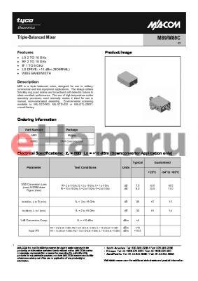 M89C datasheet - Triple-Balanced Mixer