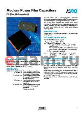 FB37A6A0335JC datasheet - Medium Power Film Capacitors