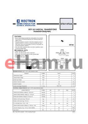 DTA114TUA datasheet - SOT-323 DIGITAL TRANSISTORS TRANSISTORS(PNP)