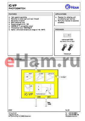 IC-VP-TO18-4L datasheet - PHOTOSWITCH