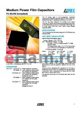 FB52H6L0685KA datasheet - Medium Power Film Capacitors