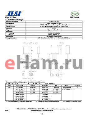 IXF-90C7DF datasheet - Crystal Filter 3 Lead Metal Package