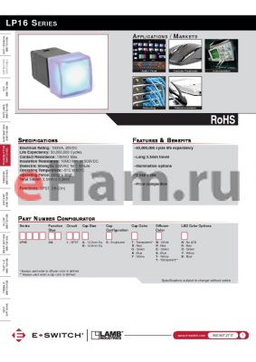 LP16OA1BSTBG datasheet - LP16 SERIES