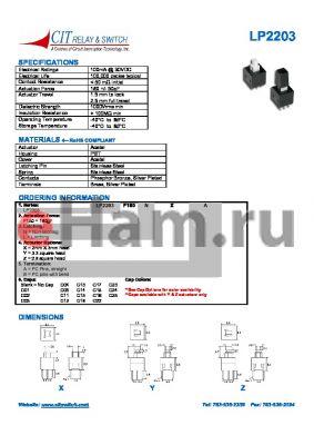 LP2203F180NZAC014 datasheet - CIT SWITCH
