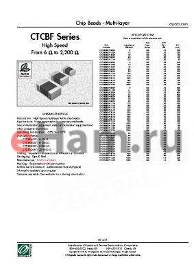 CTCB1206F-900H datasheet - Chip Beads - Multi-layer