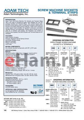 ICM-624-1-GT datasheet - SCREW MACHINE SOCKETS & TERMINAL STRIPS