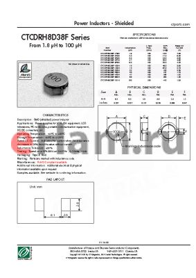 CTCDRH8D38F-100N datasheet - Power Inductors - Shielded