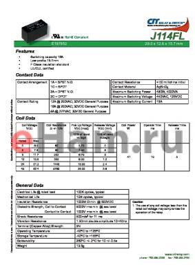 J114FL2CS848VDC.41 datasheet - CIT SWITCH