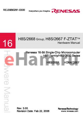 H8S/2667 datasheet - 16-Bit Single-Chip Microcomputer