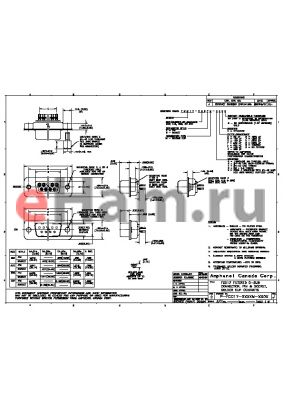 FCC17-E09SM-6L0G datasheet - FCC 17 FILTERED D-SUB CONNECTOR, PIN & SOCKET, SOLDER CUP CONTACTS