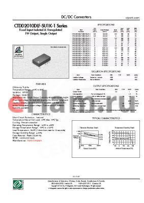 CTDD2010DLF-2403-SU1K-1 datasheet - DC/DC Converters