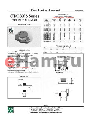 CTDO3316PF-104 datasheet - Power Inductors - Unshielded