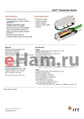 M3-P0-S1-1-1010-1 datasheet - Cm3 Connector Series