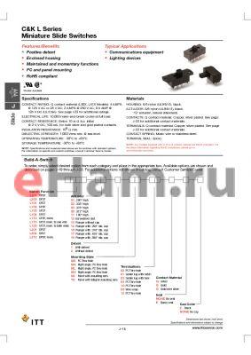 L101111MS02Q datasheet - Miniature Slide Switches