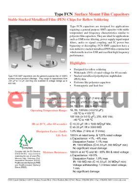 FCN1206A222J-H2 datasheet - Surface Mount Film Capacitors