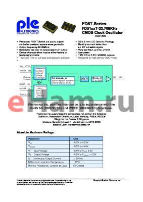 FD5150TLE-32.768K-T500 datasheet - CMOS Clock Oscillator