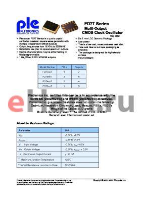 FD7775TL-25.0M-PLE-T500 datasheet - Multi-Output CMOS Clock Oscillator