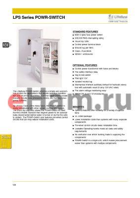 LPS1T24R1KRN6AF3Y datasheet - LPS Series POWR-SWITCH