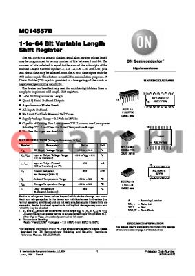 MC14557BCP datasheet - 1-to-64 Bit Variable Length Shift Register