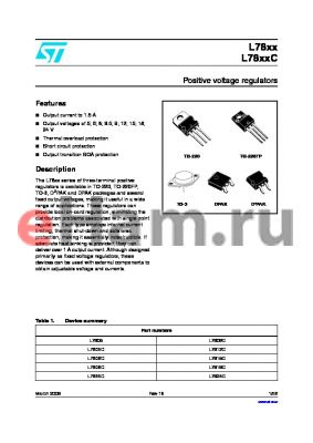 L7815CD2T-TR datasheet - Positive voltage regulators