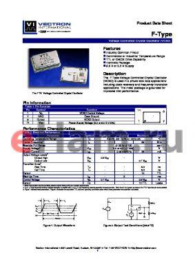 FDVHIB datasheet - Voltage Controlled Crystal Oscillator (VCXO)