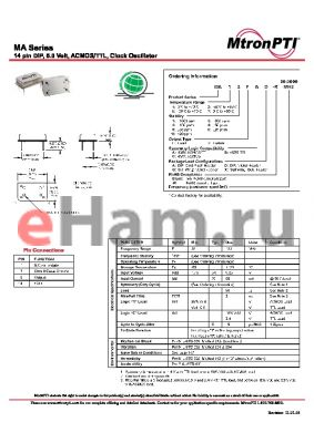 MA61FAG datasheet - 14 pin DIP, 5.0 Volt, ACMOS/TTL, Clock Oscillator
